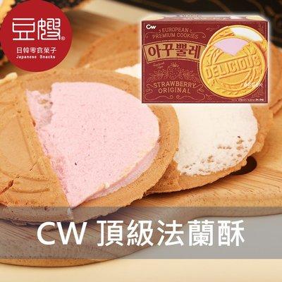 【豆嫂】韓國零食 CROWN  頂級法蘭酥餅(原味&草莓)