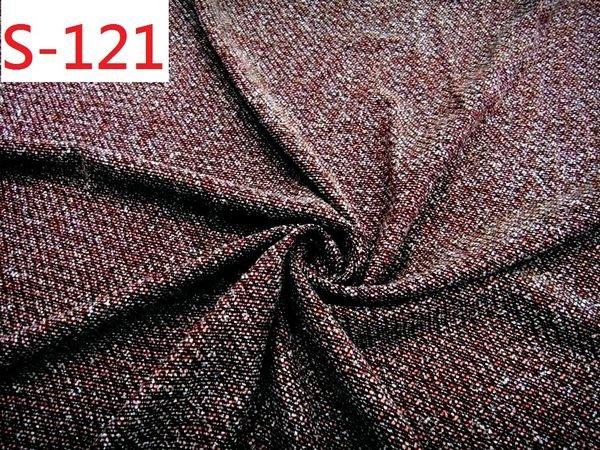 布料零售 布料批發 特價1呎35元【CANDY的家2館】精選布料S-121 黑桔紅亞克力刷毛裙褲套裝料