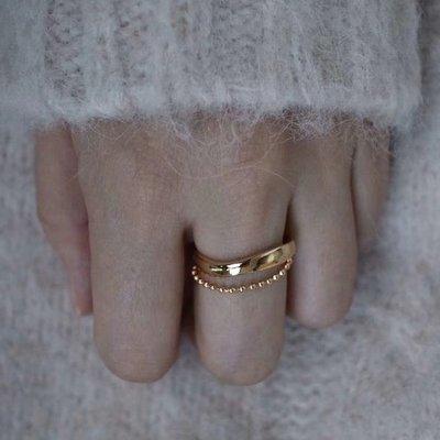 Bead chain 鍊條雙層戒指 Simple Modern [正韓] 韓國連線 【NN208】