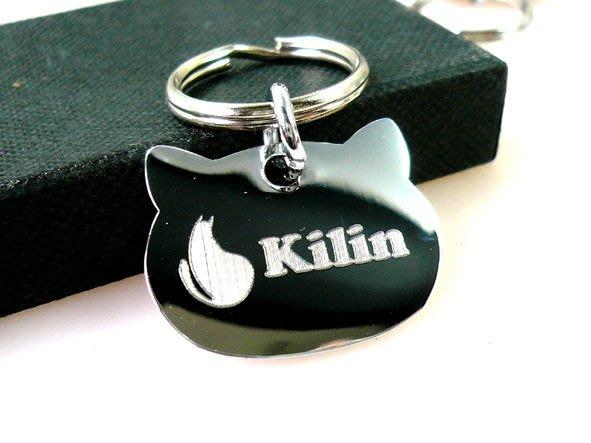 【銘記心禮】GO-1018喵喵寵物名牌、寵物吊牌(免費特殊刻字)貓咪的護身符