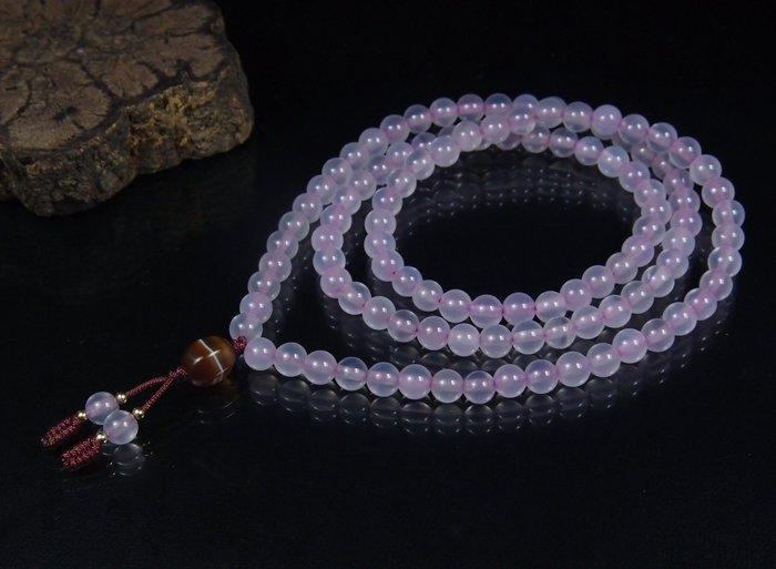 藏珠物流中心 **粉紫玉瓍**108念珠**6mm**C386