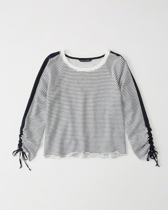 。simple。美國 Abercrombie & Fitch A&F AF 女生 長袖T恤 短T XXS