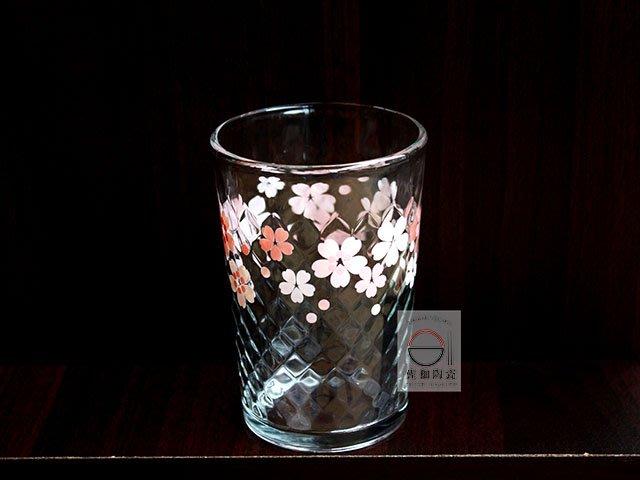 +佐和陶瓷餐具批發+【XL080219-4 春櫻格紋水杯-印尼製】水杯 喝茶杯 櫻花杯 杯