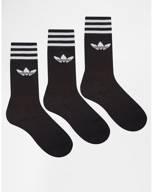 【DaWn Shop】代購ADIDAS 3 PACK SOCKS S21490三雙一組 黑 運動襪 長筒襪 長襪 復古
