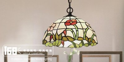 【168 Lighting】花叢系列第凡內玻璃吊燈(兩款)A款GC61063-2