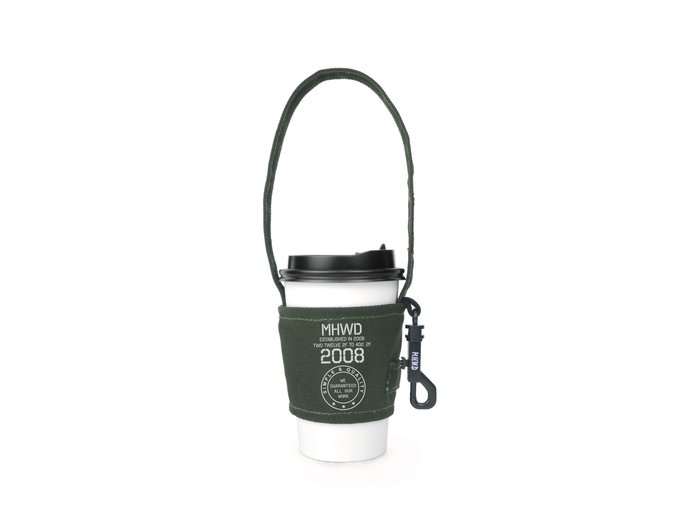 【Matchwood直營】 Matchwood Cup Sleeve 軍事風格 掛勾式環保杯套 MHWD軍綠款 買五送一