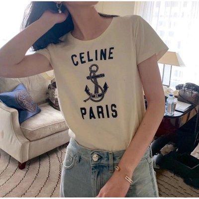 巴莉plus【代購】Celine 錨形圖案T恤