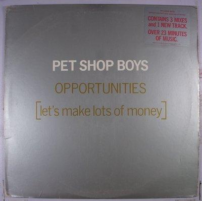 《二手美版單曲黑膠》Pet Shop Boys - Opportunities (Let's Make Lots Of