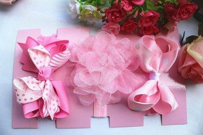 ☆草莓花園☆歐美兒童髮帶套裝 TOBY時尚可愛花朵蝴蝶結頭飾 百搭款 花色組合26  附精美外盒