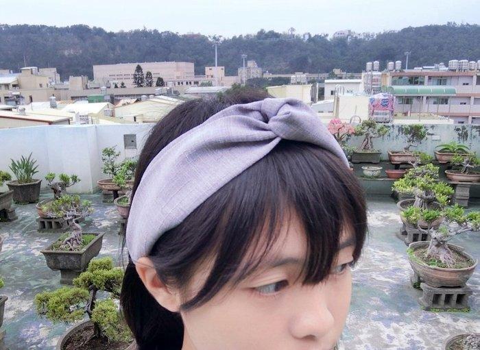 SKder手作~ 素色竽頭~交叉款髮帶 headband