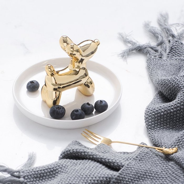 MAJ.POINT-陶瓷托盤碟 北歐INS氣球小狗年 時尚歐美 金珠寶飾品耳環奢華收納 糖果零食堅果 零錢 代購 道具