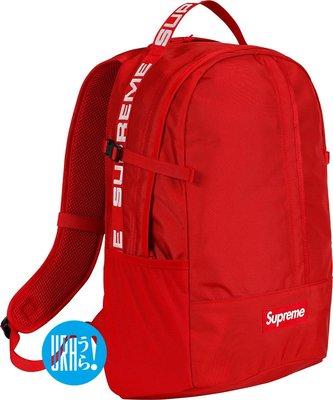 【URA 全新現貨】2018 Supreme Backpack 44TH 後背包 44代 黑 紅