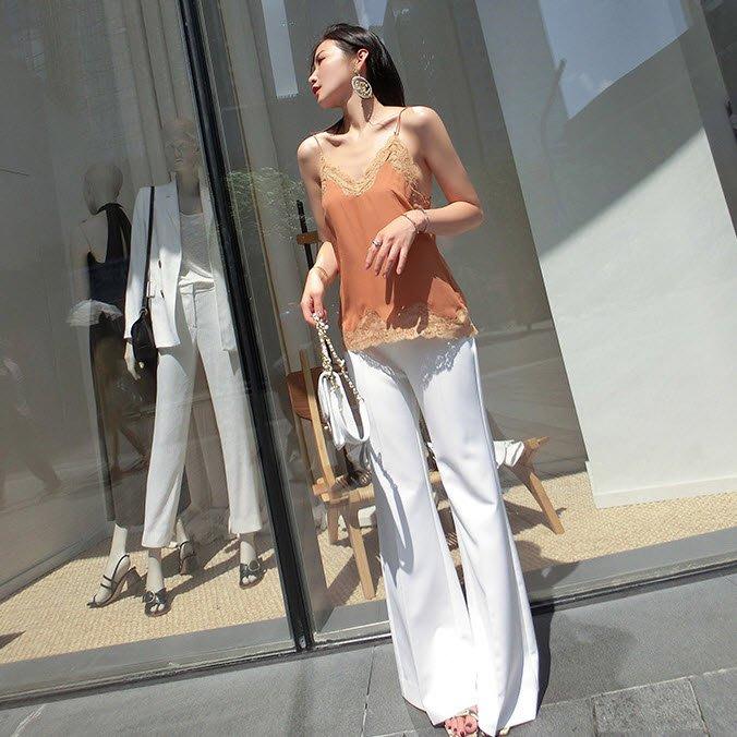 《巴黎拜金女》高腰顯腿型休閒褲女寬鬆舒適西裝褲氣質闊腿褲