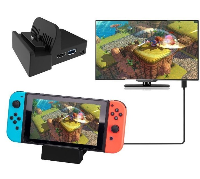 現貨 DN600 含酷威I3機板 便攜散熱底座 Nintendo Switch NS HDMI Type C dock
