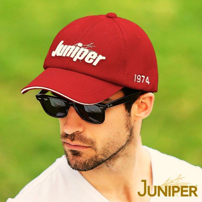 JUNIPER 中性透氣抗UV棒球帽 J7560紅色 遮陽帽 棒球帽 防曬帽 抗UV 喜樂屋戶外休閒