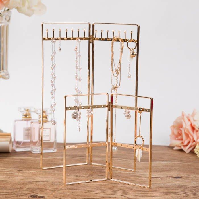 北歐風格精致金色首飾架 展示架飾品架 耳環手鏈項鏈架子