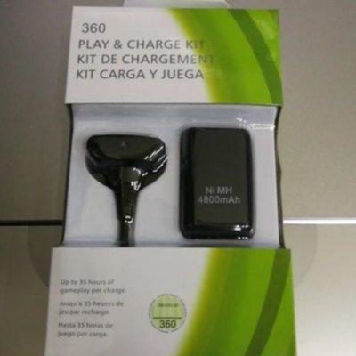 XBox 360 手把同步充電線+充電電池全新盒裝