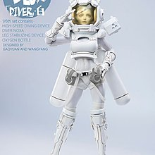 Coreplay White Deepblur Diver Boxed Figure hot toys