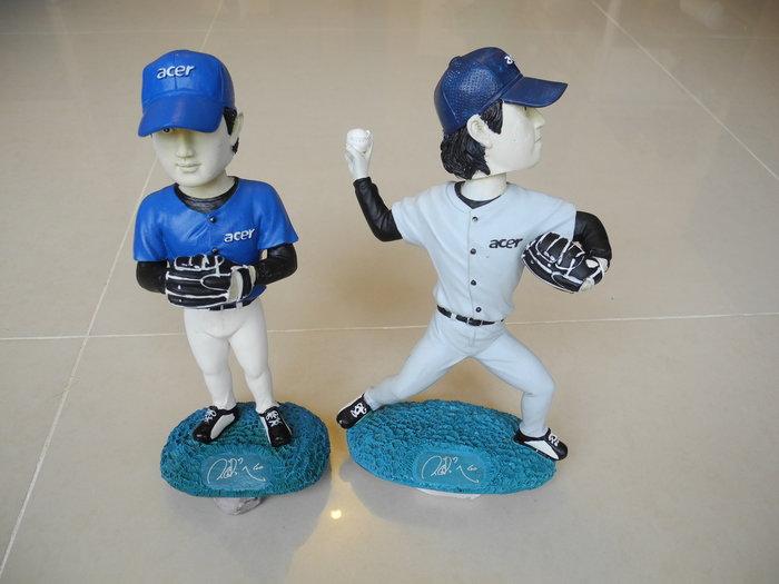 ACER 王建民 美國職棒大聯盟洋基隊王建民藍色球衣版 公仔模型 (一對) 頸有彈簧頭可搖動