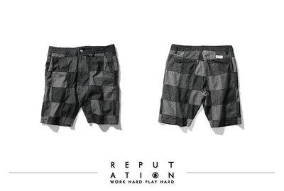 Reputation 16 S/S - R.P.T.N 拼接格紋短褲