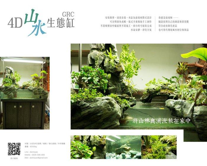 全台唯一 4D山水生態缸 風水 財位 造景 園藝 魚缸 草莓熊雜貨店