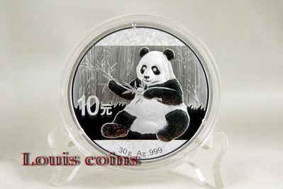 【Louis Coins】C003‧中國‧熊貓2017年1盎司銀幣