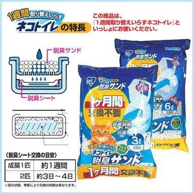【5包組免運】日本IRIS一週間除臭抗菌球砂貓沙貓砂TIA-6L