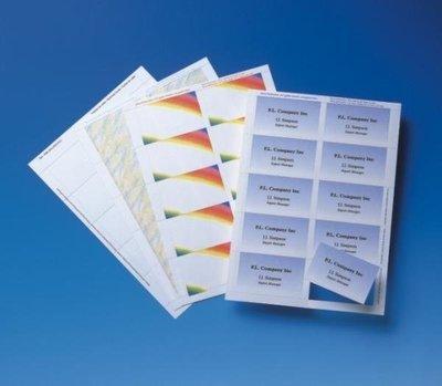 【全新含稅】進口紙名片卡 淺紫色~~可做名片/名牌/識別卡/上課證/學生證/職員證 A4x10張 (噴墨雷射影印三用)
