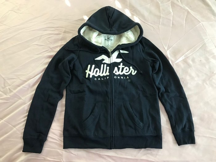 【天普小棧】HOLLISTER HCO Sherpa-Lined Full-zip Hoodie熊寶寶連帽運動外套S號