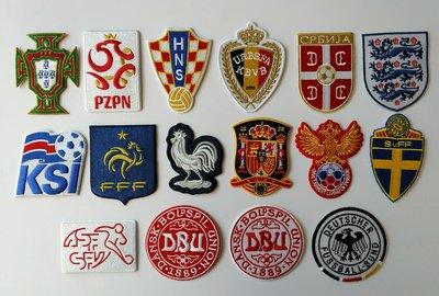 世界杯YYDS~2020俄羅斯世界杯32強足球布貼刺繡補丁貼電腦繡花隊徽LOGO背膠