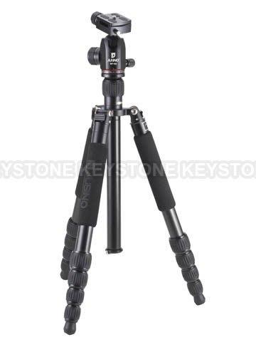 呈現攝影-Jusino JK-525+BT-02 黑色 五節反摺 鋁合金腳架+雲台單腳架 高156 低29 公司貨