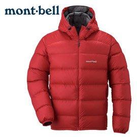 丹大戶外【mont-bell】日本Light Alpine輕量系列男款800FP連帽保暖防潑水羽絨外套1101430椒紅