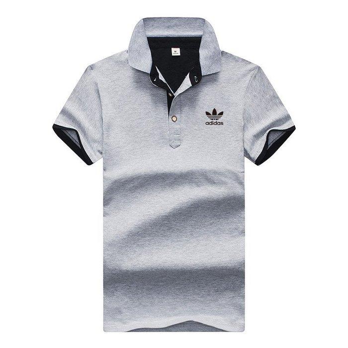 SUM運動城 Adidas愛迪達 三葉草 短袖POLO衫 男生 翻領短袖T恤 吸濕透氣 高爾夫健身 立領T恤