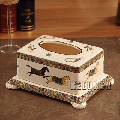 【老煙槍】英倫風歐式象牙瓷小號紙巾盒 ...