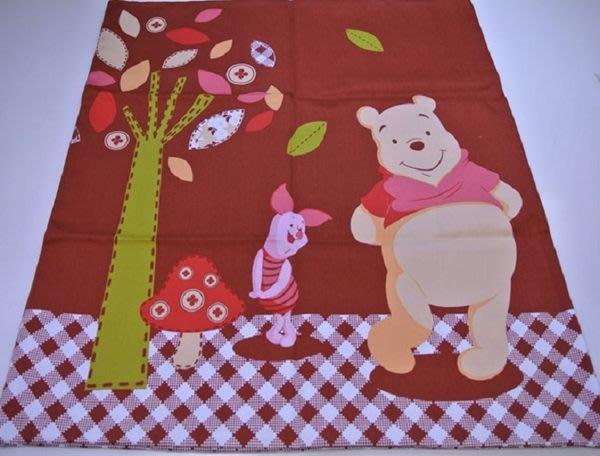 ~FUJIJO~現貨~超特價~日本迪士尼【Winnie維尼&小豬】日本製59*59cm可愛和風大抱枕套/靠枕套/枕套