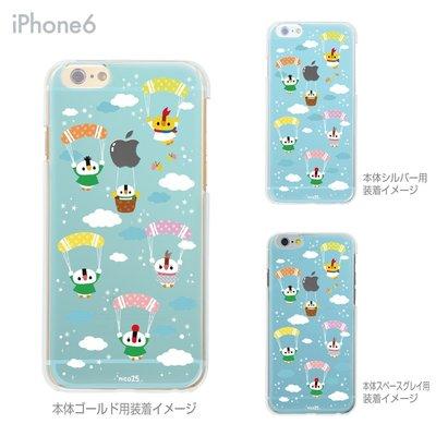 日本製【可愛小雞藍天熱汽球飛翔/彩繪透明殼/tpu軟殼】iphone6+plus手機殼手機套可愛背蓋似迪士尼5s