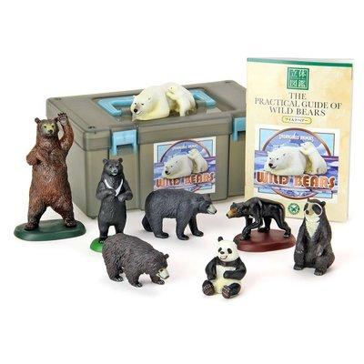 日本正版 立體圖鑑擬真模型BOX 世界的熊 8種組 小模型 小公仔 日本代購