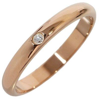 *超低價起標~知名品牌Cartier卡地亞-1895經典款單顆鑽 18K玫瑰金鑽戒(750) 歐洲圍45號~保證真貨