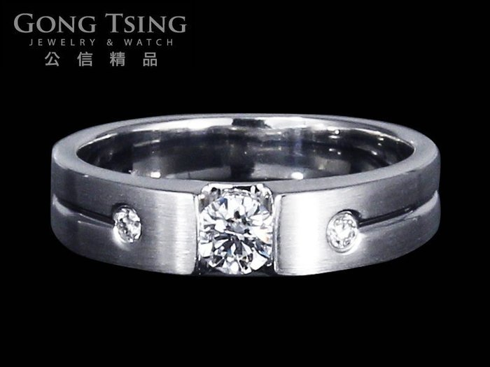 【公信精品】鑽石男戒指 0.31克拉 八心八箭 H&A 白K金天然鑽戒 30分鑽戒