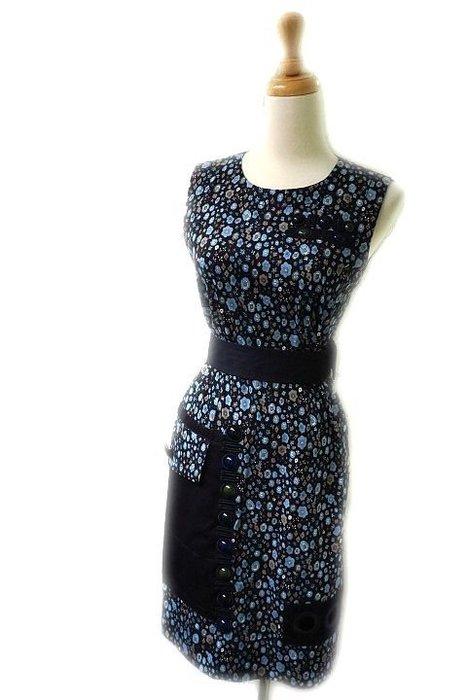 *Beauty*Marc Jacobs藍色碎花寶石背心洋裝0號11800  元WE17 復古風