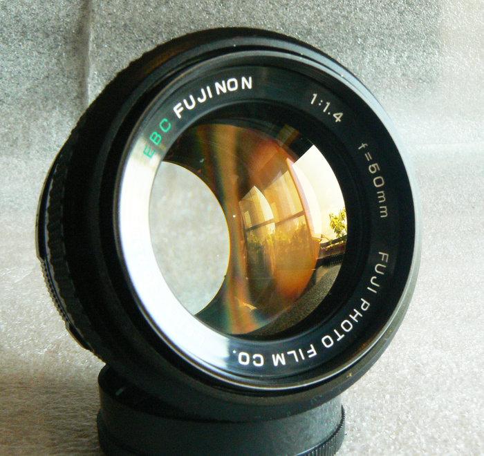 【悠悠山河】近新品 黃金鍍膜 EBC FUJI FUJINON 50mm F1.4 M42 烯土鑭系玻璃鏡片無傷無霧無霉