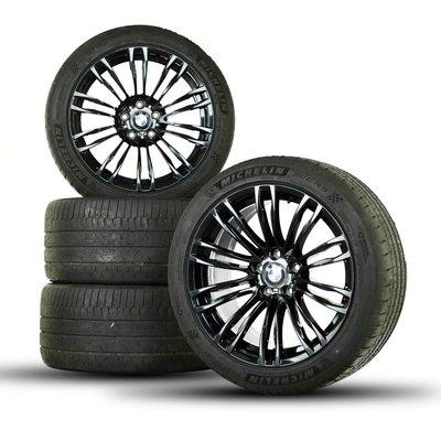 國豐動力 BMW F10 M5 原廠19吋鋁圈一套 5x120 ET32 9J ET34 10J 後面一個圈有裂 修補過