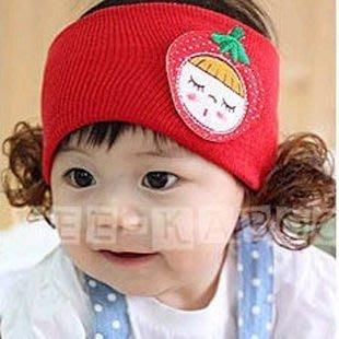 HM嬰幼館【C231】2012兒童髮帶/公主頭飾/草莓娃娃髮帶