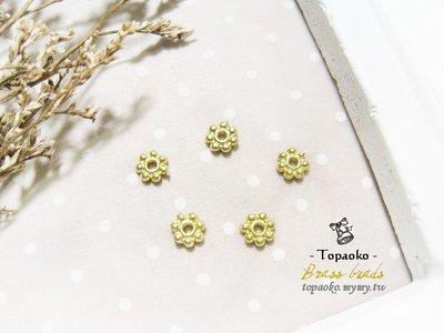 手作飾品˙串珠材料 黃銅實心鑄銅小花隔片48入一份【F7848-1】4mm項鍊耳環手鍊DIY《晶格格的多寶格》
