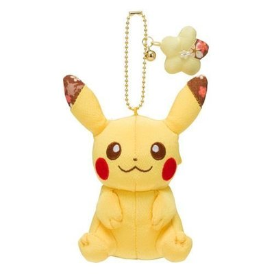 Pokemon 和風毛公仔吊飾 比卡超