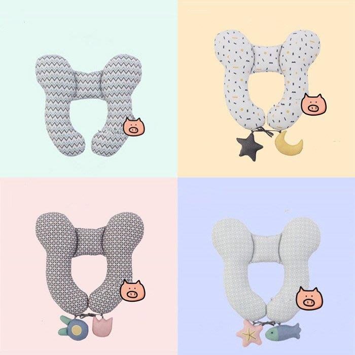 枕頭 新生兒 寶寶 護頸枕 可愛造型 推車用品 安全座椅