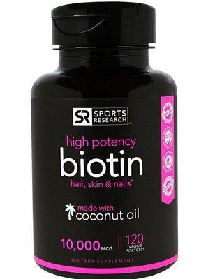 北美旗艦代購~美國直發 Sports Research, Biotin 10,000mcg  生物素 120粒