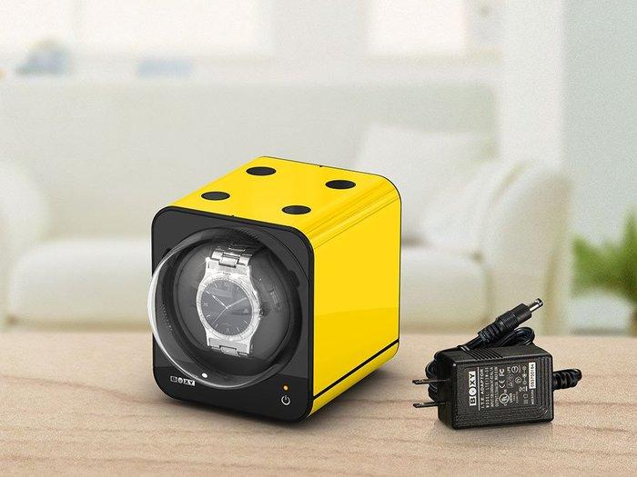 金鐸精品~B003~BOXY FANCY BRICK 黃色 手錶自動上鍊盒
