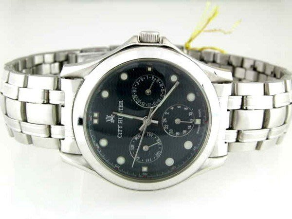 @(六四三鐘錶精品店)@CITY(真品)手錶...三眼可動功能...弧型突面玻璃..石英錶