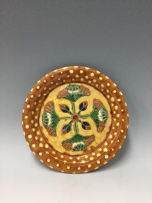 〈長輩的私藏古瓷〉老件三彩碟子